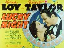 Lucky Night 1939 DVD - Myrna Loy / Robert Taylor
